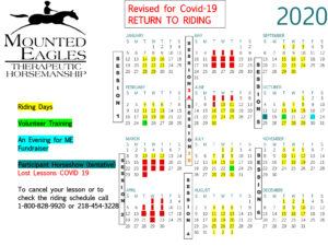 2020 UPDATED Riding Session Calendar